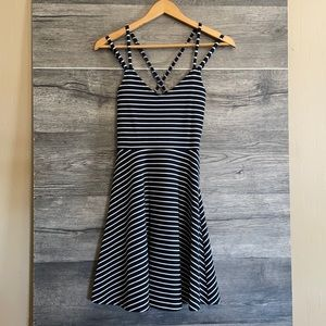 French connection stripes tank dress